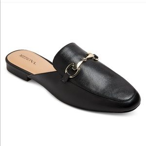 Merona Backless loafers with gold horsebit